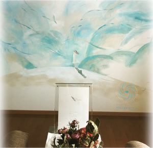YORIKO Clinic wating room s mural painting